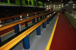 Resin floor screeds For rail depots